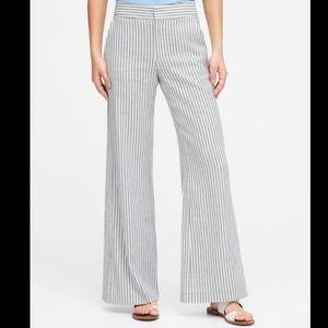 Banana Republic 100% Linen Wide Leg Pants White
